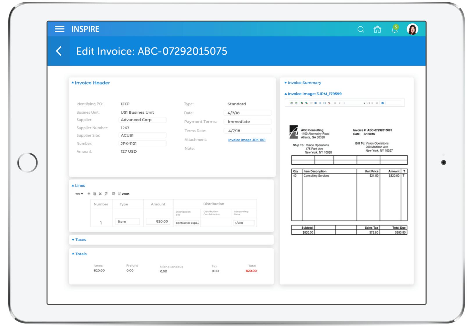 Oracle ERP Cloud 画面5