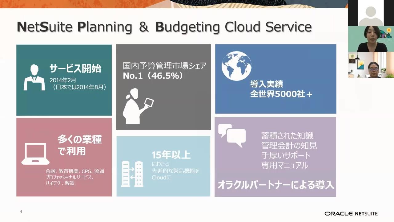 【動画】 Oracle NetSuiteが提供する予算管理ソリューション「PBCS」