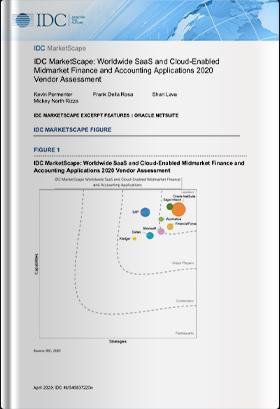 IDC MarketScape: 国内外中堅企業向けSaaS/クラウド対応型財務会計ソフトウェアソリューション2020 ベンダー評価レポート